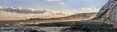 Folkestone Sunset Panorama Poster by Ian Hufton