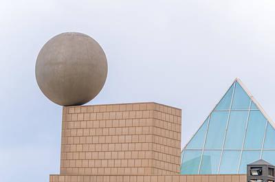 Gehrys Sphere Sculpture  Barcelona Spain  Poster