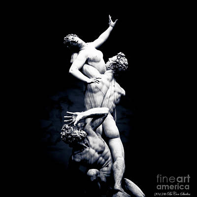 Giambologna's The Rape Of The Sabine Women Poster by R A  Golden