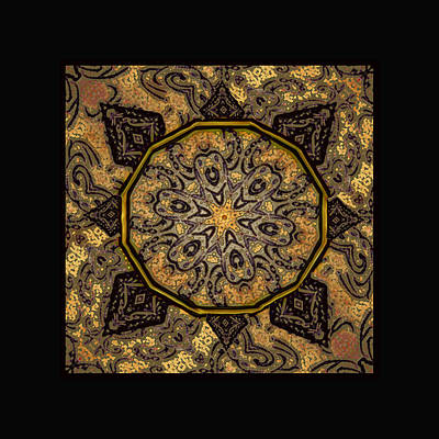 Golden Day Mandala Poster by Kandy Hurley