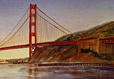 Golden Gate Bridge San Francisco California Poster by Irina Sztukowski