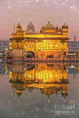 Golden Temple In Amritsar - Punjab - India Poster by Luciano Mortula