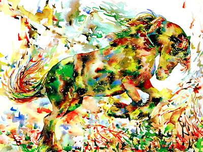 Horse Painting.2 Poster by Fabrizio Cassetta