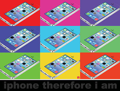 Iphone Therefore I Am Poster