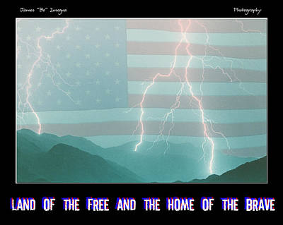 Land Of The Free And The Home Of The Brave Poster by James BO  Insogna