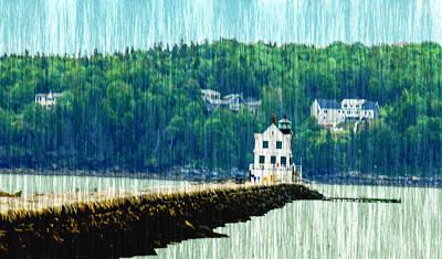 Light House Maine Poster