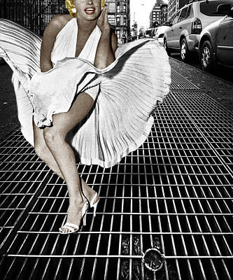 Marilyn Monroe In New York City Poster by Tony Rubino