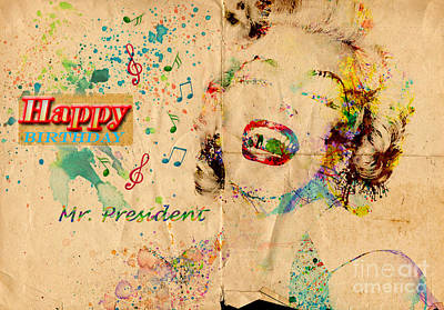 Happy Birthday Mr President Poster by Gillian Singleton