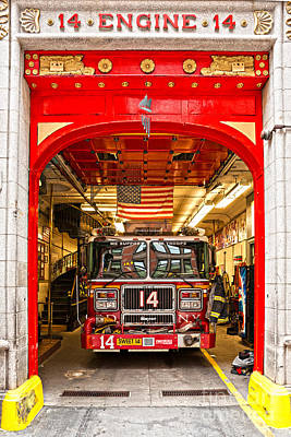 New York Fire Department Engine 14 Poster by Luciano Mortula