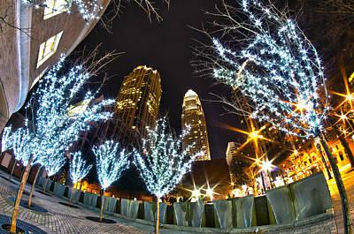 Nightlife Around Charlotte At Christmas Poster