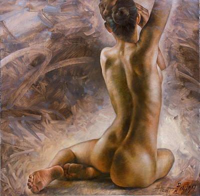 Nude Girl Poster by Arthur Braginsky