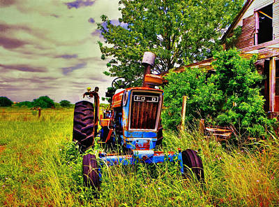 Old Ford Tractor Poster by Savannah Gibbs