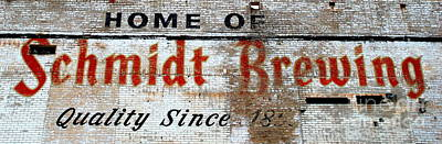 Old Schmidt Brewery  Poster