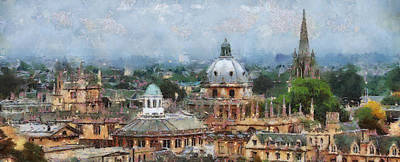 Oxford Panorama Poster by Georgi Dimitrov
