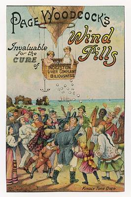 Page Woodcock's  Wind Pills Poster