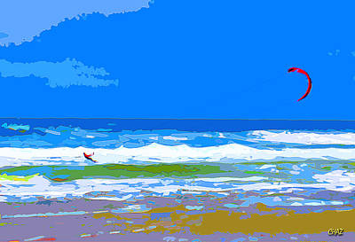 Para-surfer 2p Poster by CHAZ Daugherty