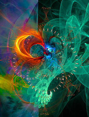 Parallel Reality - Colorful Digital Abstract Art Poster