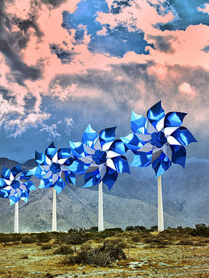 Pinwheels Windmills Palm Springs Poster by William Dey