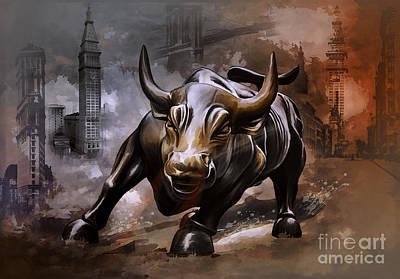 Raging Bull Poster by Andrzej Szczerski
