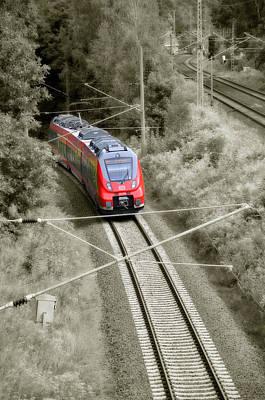 Red Train - Deutsche Bahn Poster