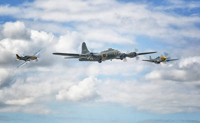 Sally B With Her Little Friends Poster by Jason Green