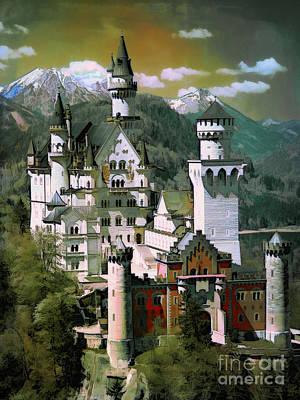 Schloss Neuschwanstein Poster by Andrzej Szczerski