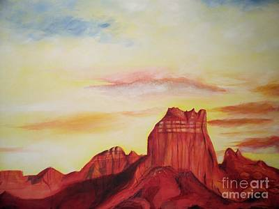 Poster featuring the painting  Sedona Az by Eric  Schiabor