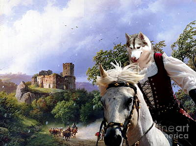 Siberian Husky Art Canvas Prin Poster by Sandra Sij