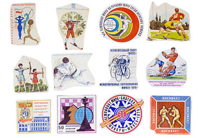 Soviet Union Sport Banners Set Poster