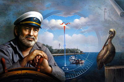 St. Simons Island Sea Captain 5 Poster