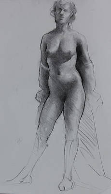 Standing Nude Poster by Ernest Principato