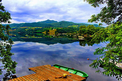Stunning Mirror Lake By Julia Fine Art Poster