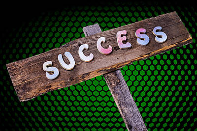 Success Sign Post Poster by Donald  Erickson