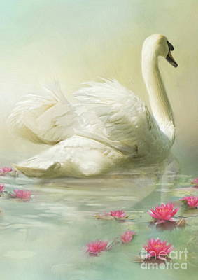 Swan Song Poster by Trudi Simmonds