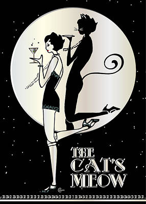 The Cat's Meow Nite Poster by Cecely Bloom