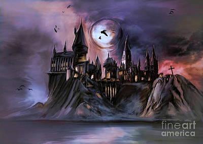 The Magic Castle II. Poster by Andrzej Szczerski