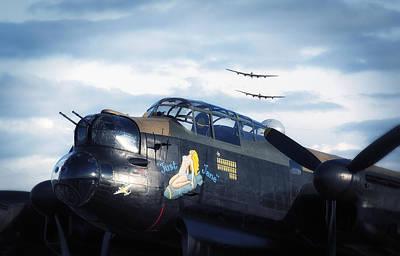 Three Lancasters Poster