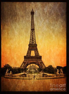 Vintage Eiffel Tower Paris  Poster by Heinz G Mielke