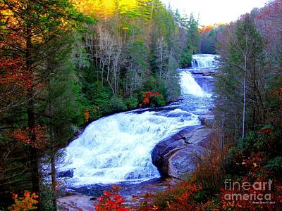 Poster featuring the photograph  Waterfall At Dupont Forest Nc 2 by Annie Zeno