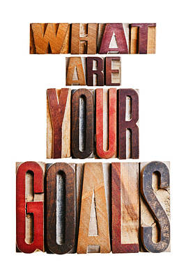 What Are Your Goals Poster by Donald  Erickson