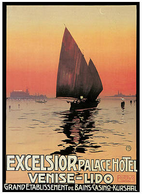 Excelsior Palace Hotel Poster by Mario Borgoni