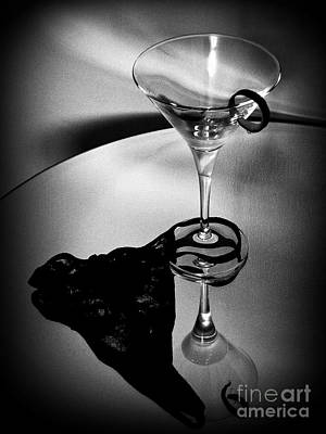 Martini Glass Charm Poster by Linda Bianic