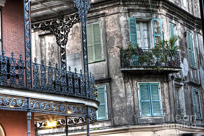 0275 New Orleans Balconies Poster