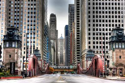 0295b Lasalle Street Bridge Poster
