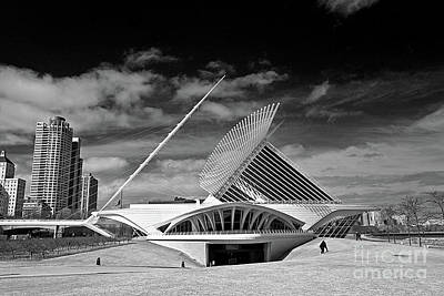 0352 Milwaukee Art Museum Infrared Poster by Steve Sturgill
