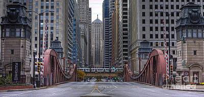 0524 Lasalle Street Bridge Chicago Poster by Steve Sturgill