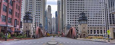 0525 Lasalle Street Bridge Chicago Poster by Steve Sturgill