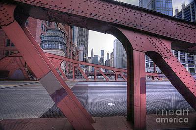 0528 Lasalle Street Bridge Chicago Poster by Steve Sturgill
