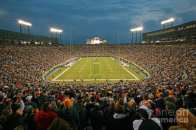 0615 Prime Time At Lambeau Field Poster by Steve Sturgill