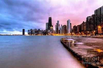 0865 Chicago Sunrise Poster